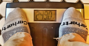 So, the good news is that I *don't* weigh 250 pounds…